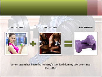 Two Barbells And Blue Tie PowerPoint Template - Slide 22