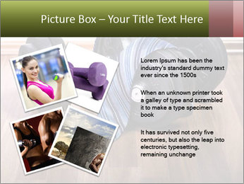 Two Barbells And Blue Tie PowerPoint Template - Slide 23