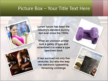 Two Barbells And Blue Tie PowerPoint Template - Slide 24