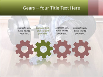 Two Barbells And Blue Tie PowerPoint Template - Slide 48