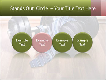 Two Barbells And Blue Tie PowerPoint Template - Slide 76