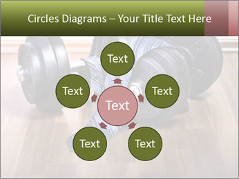 Two Barbells And Blue Tie PowerPoint Template - Slide 78