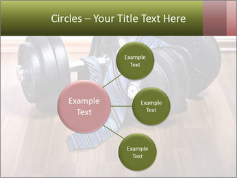 Two Barbells And Blue Tie PowerPoint Template - Slide 79