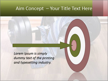 Two Barbells And Blue Tie PowerPoint Template - Slide 83
