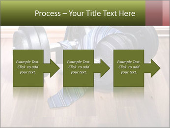 Two Barbells And Blue Tie PowerPoint Template - Slide 88