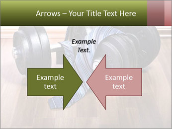 Two Barbells And Blue Tie PowerPoint Template - Slide 90