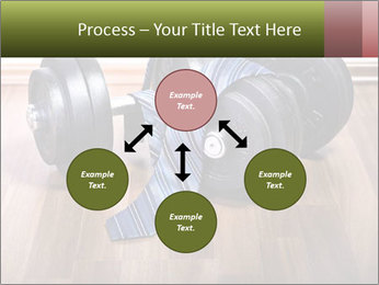 Two Barbells And Blue Tie PowerPoint Template - Slide 91