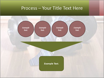 Two Barbells And Blue Tie PowerPoint Template - Slide 93