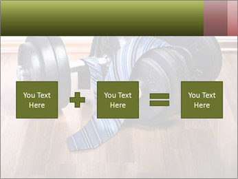 Two Barbells And Blue Tie PowerPoint Template - Slide 95