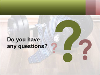 Two Barbells And Blue Tie PowerPoint Template - Slide 96