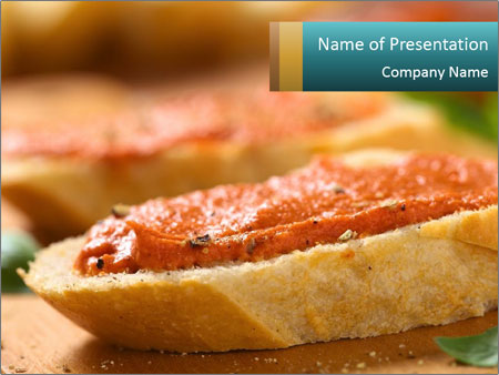 Bread With Tomato Topping PowerPoint Template