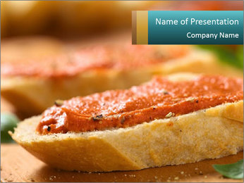 Bread With Tomato Topping PowerPoint Templates - Slide 1