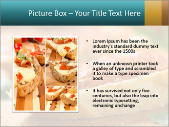 Bread With Tomato Topping PowerPoint Template - Slide 13