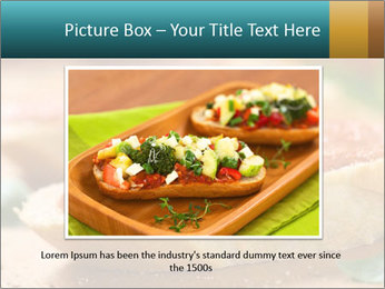 Bread With Tomato Topping PowerPoint Template - Slide 16