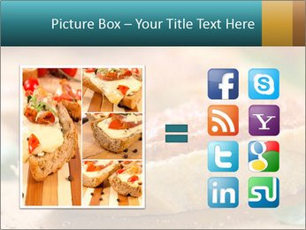 Bread With Tomato Topping PowerPoint Template - Slide 21