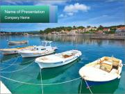 Boats In Croatian Coast PowerPoint Template