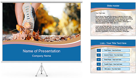 Jogging Workout PowerPoint Template