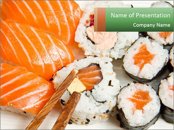 Japanese Restaurant PowerPoint Template - Slide 1