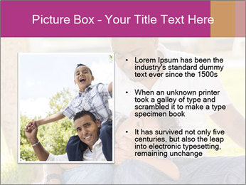 Afro-American Father With Son PowerPoint Template - Slide 13
