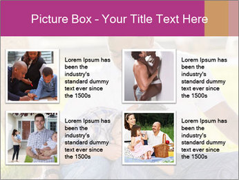 Afro-American Father With Son PowerPoint Templates - Slide 14