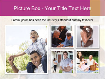 Afro-American Father With Son PowerPoint Template - Slide 19