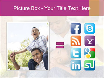 Afro-American Father With Son PowerPoint Template - Slide 21