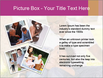 Afro-American Father With Son PowerPoint Templates - Slide 23