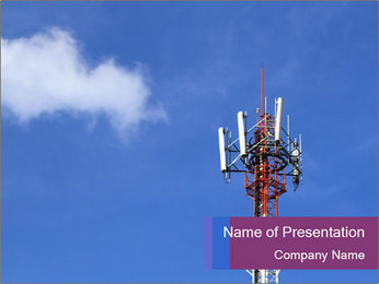 Telecommunications Equipment PowerPoint Template - Slide 1