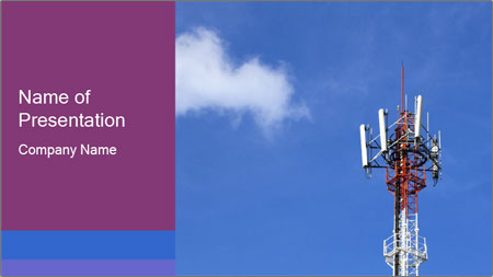 Telecommunications Equipment PowerPoint Template