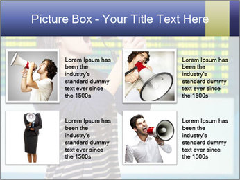 Woman With Loudspeaker At Airport PowerPoint Template - Slide 14