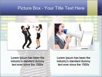 Woman With Loudspeaker At Airport PowerPoint Template - Slide 18