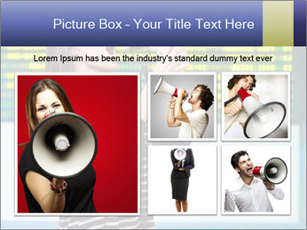 Woman With Loudspeaker At Airport PowerPoint Template - Slide 19