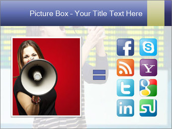 Woman With Loudspeaker At Airport PowerPoint Template - Slide 21