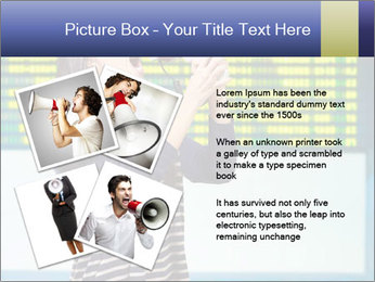 Woman With Loudspeaker At Airport PowerPoint Template - Slide 23