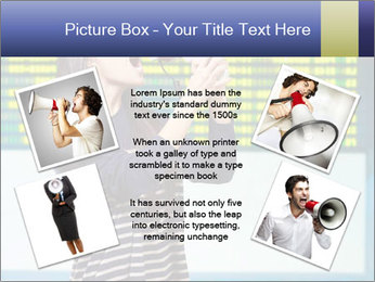 Woman With Loudspeaker At Airport PowerPoint Template - Slide 24