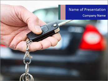 Auto Key PowerPoint Template - Slide 1