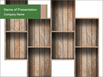 Wooden Furniture PowerPoint Template - Slide 1