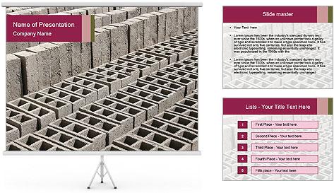 Concrete Bricks PowerPoint Template