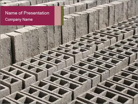 Concrete Bricks PowerPoint Templates