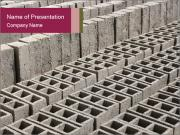 Concrete Bricks PowerPoint Templates
