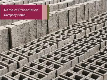 Concrete Bricks PowerPoint Template - Slide 1