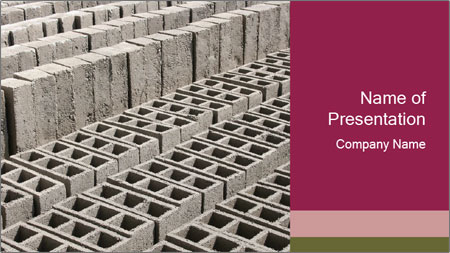 Concrete Bricks PowerPoint Template