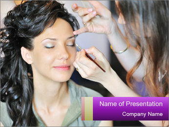 Professional Makeup Salon PowerPoint Template