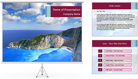 Greek Coast PowerPoint Template