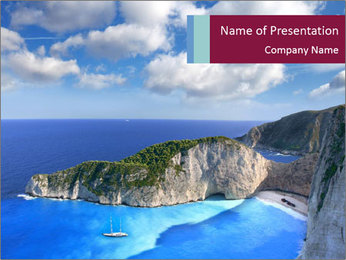 Greek Coast PowerPoint Template - Slide 1