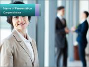 Confident Businesswoman PowerPoint Template