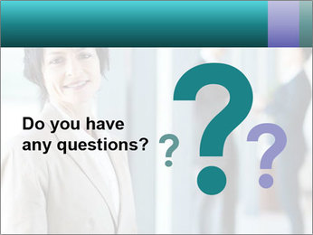 Confident Businesswoman PowerPoint Template - Slide 96