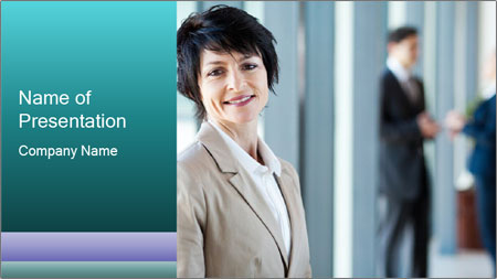 Confident Businesswoman PowerPoint Template