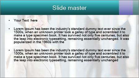 Confident Businesswoman PowerPoint Template - Slide 2