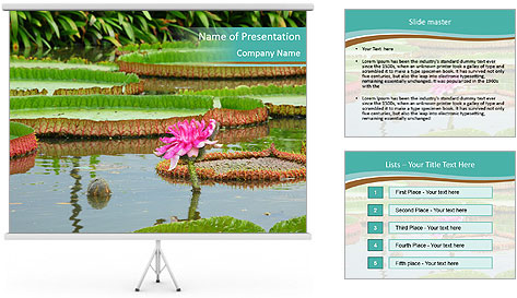 Waterlily PowerPoint Template